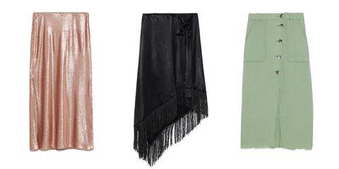 nuevo estilo 10f5a ee462 Faldas largas de rebajas Zara que siguen las tendencias de ...