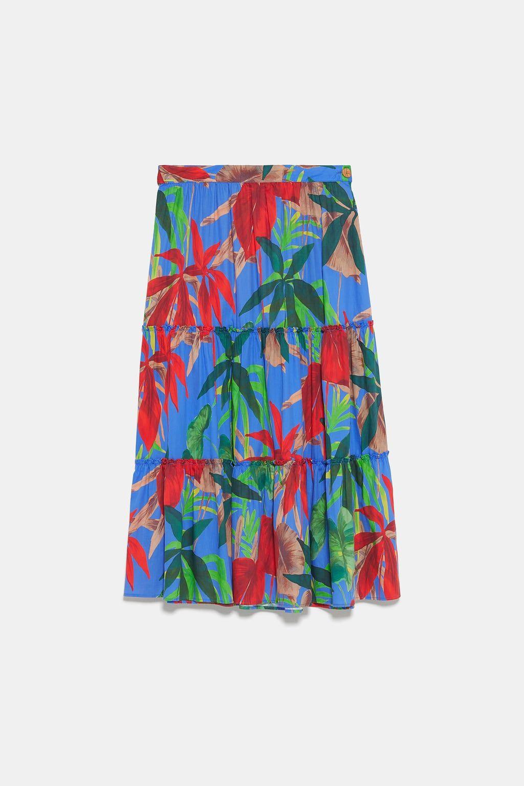 Faldas largas de rebajas Zara que siguen las tendencias de