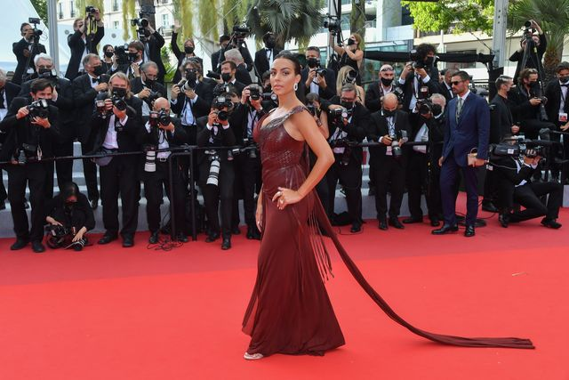 cannes, france   july 15 georgina rodriguez  attends the france screening during the 74th annual cannes film festival on july 15, 2021 in cannes, france photo by stephane cardinale   corbiscorbis via getty images