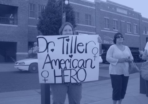 wichita, ks   may 31  dea deujsch c participates in a candle light vigil for dr george tiller in old town may 31, 2009 in wichita, kansas dr george tiller, a late term abortion doctor, was gunned down inside the foyer at the reformation lutheran church during morning church services a suspect in the shooting has been apprehended in kansas city  photo by kelly glasscockgetty images