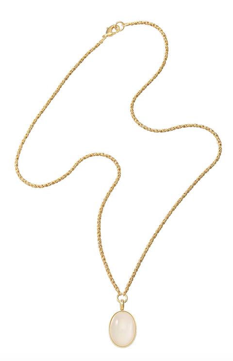gren グリン 【ELLE SHOP限定】ホワイトカボションネックレス