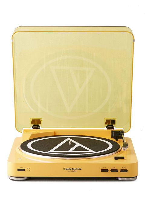 Yellow, Electronics, Technology, Record player, Electronic instrument, Electronic device,