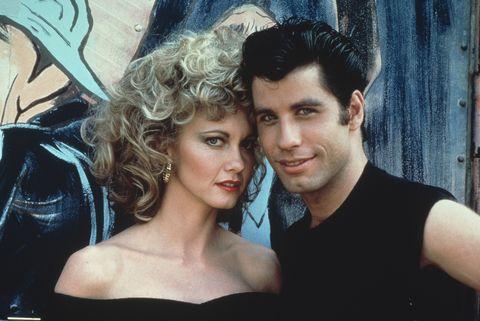 Olivia Newton-John y John Travolta en un posado dela película 'Grease'.