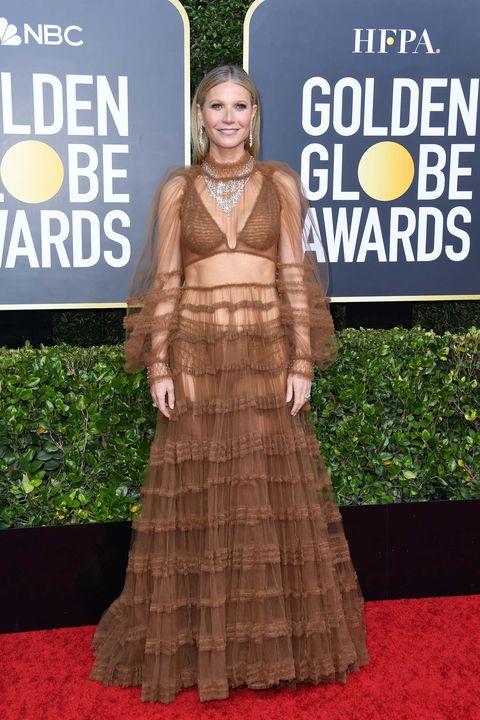 Gwyneth Paltrow Globos de Oro 2020 peor vestidas