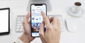 Aplicación de Instagram para Apple iPhone X elle