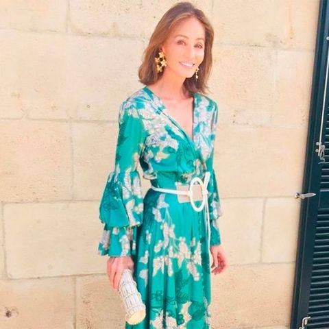 ofertas exclusivas la mejor moda reunirse Isabel Preysler y su look de boda con un vestido largo de flores