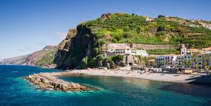 Costa de Funchal en Madeira, Portugal