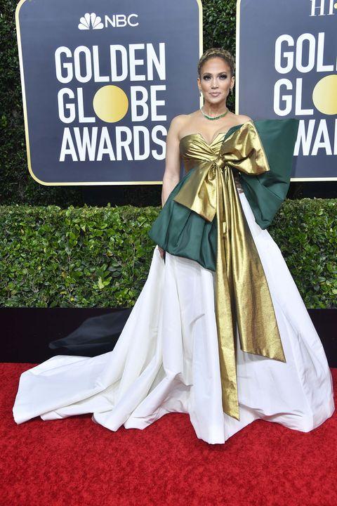 Jennifer Lopez Globos de Oro 2020 peor vestidas