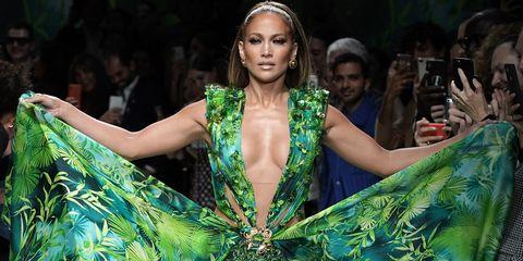 Jennifer Lopez vestido verde Jungle Dress Versace