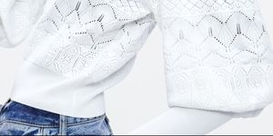 jersey blanco mangas abullonadas zara barato