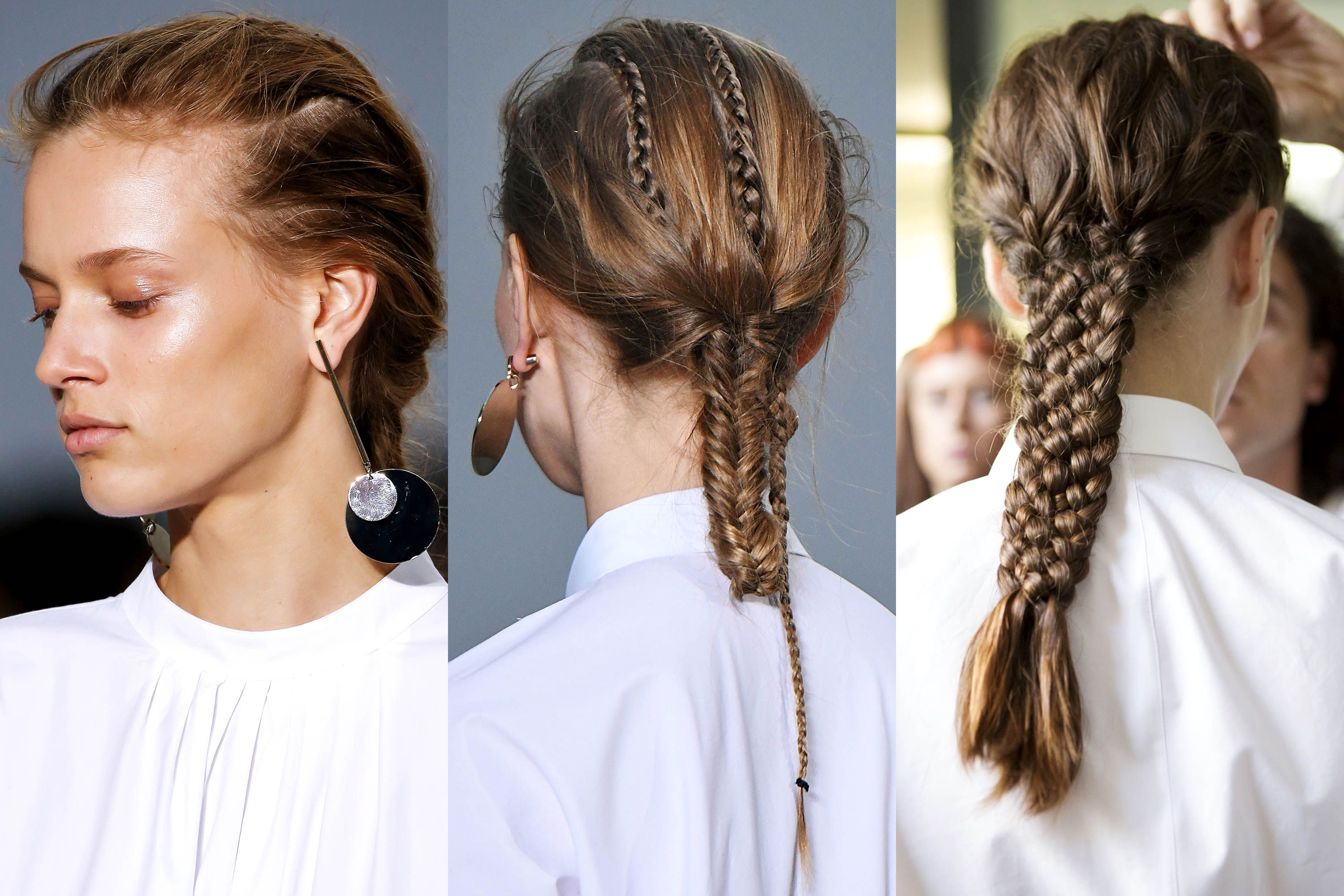 Fashion style Braided spring hairstyles inspired from the runway for girls