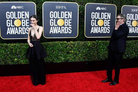 Joaquin Phoenix and Rooney Mara Golden Globes 2020