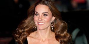Kate Middleton vestido largo encaje fiesta Alexander McQueen