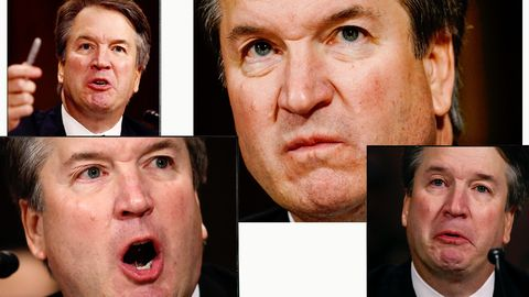 Image result for bret kavanaugh angry