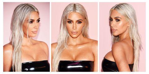 Kim Kardashian Platinum Blonde Again