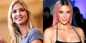 Ivanka Trump and Kim Kardashian
