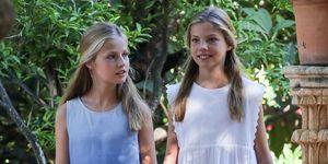 La princesa Leonor y la infanta Sofía en Mallorca
