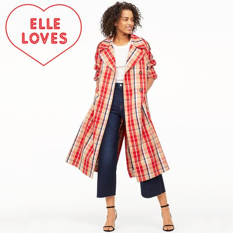 Clothing, Outerwear, Sleeve, Pattern, Coat, Plaid, Pattern, Trench coat, Design, Dress,