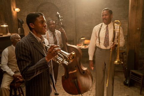 ma rainey's black bottom 2020 l to rglynn turman as toldeo, chadwick boseman as levee, michael potts as slow drag and colman domingo as cutlercr david lee netflix