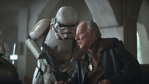 werner herzog as the client in the mandalorian