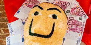 """Máscara de sushi inspirada en la serie """"La Casa de Papel"""", que ha creado Deliveroo"""