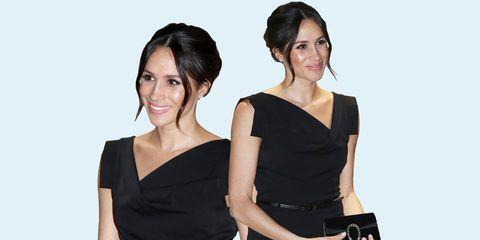 5ab98e2eeee Meghan Markle s Little Black Dress - Meghan Markle Wears Black Halo