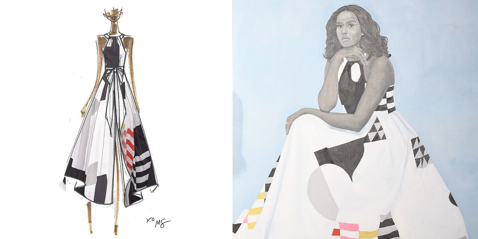 The Real Story Behind Michelle Obama's Milly Portrait Gown