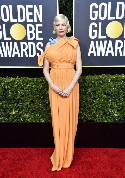 Michelle Williams Globos de Oro 2020 peor vestidas