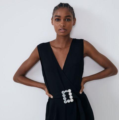 detallado cliente primero promoción El mono largo negro de Zara y looks de trabajo, fiesta e ...