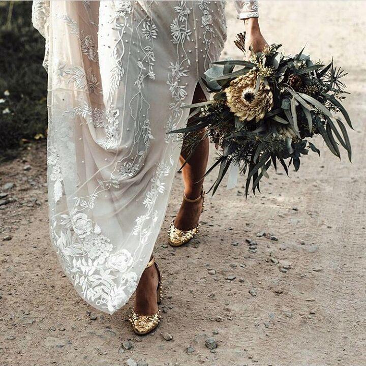Zapatos planos ( y de tacón sensato) para las novias que no quieren llevar tacones