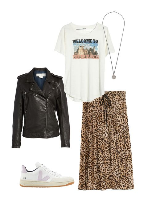 Clothing, White, Jacket, Footwear, Leather, Outerwear, Fashion, Sleeve, Leather jacket, Top,