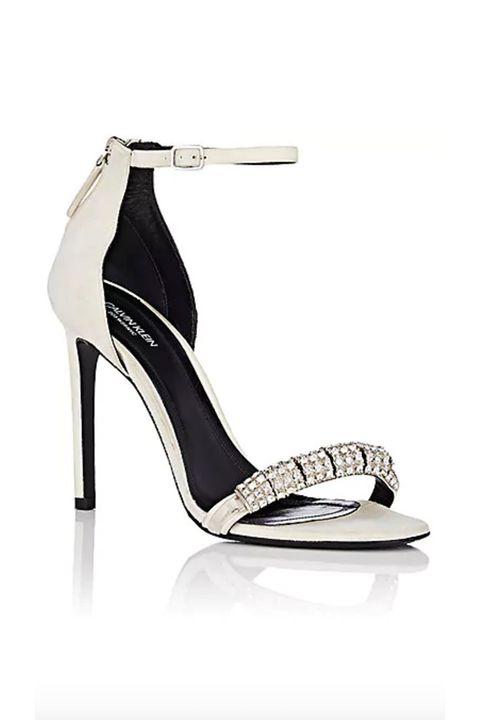 Footwear, High heels, Sandal, Shoe, Basic pump, Slingback, Court shoe, Strap, Beige,