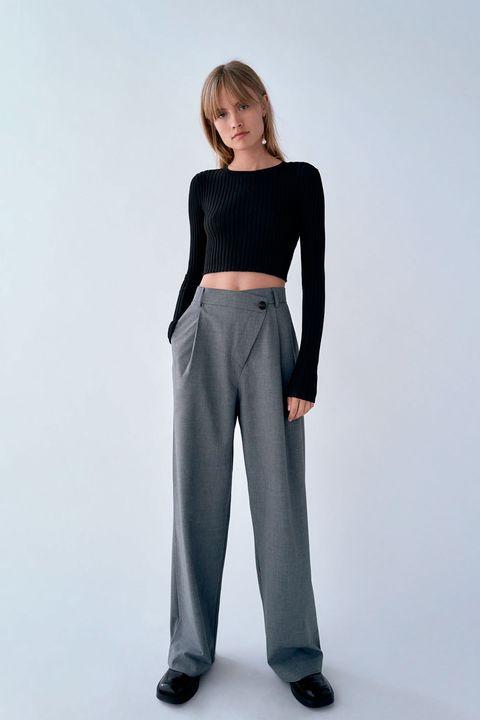 El Pantalon Ancho De Zara Que Hace Una Talla Menos De Cintura