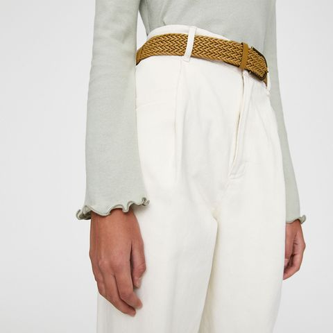 White, Clothing, Outerwear, Beige, Suit, Waist, Formal wear, Trousers, Sleeve, Blazer,