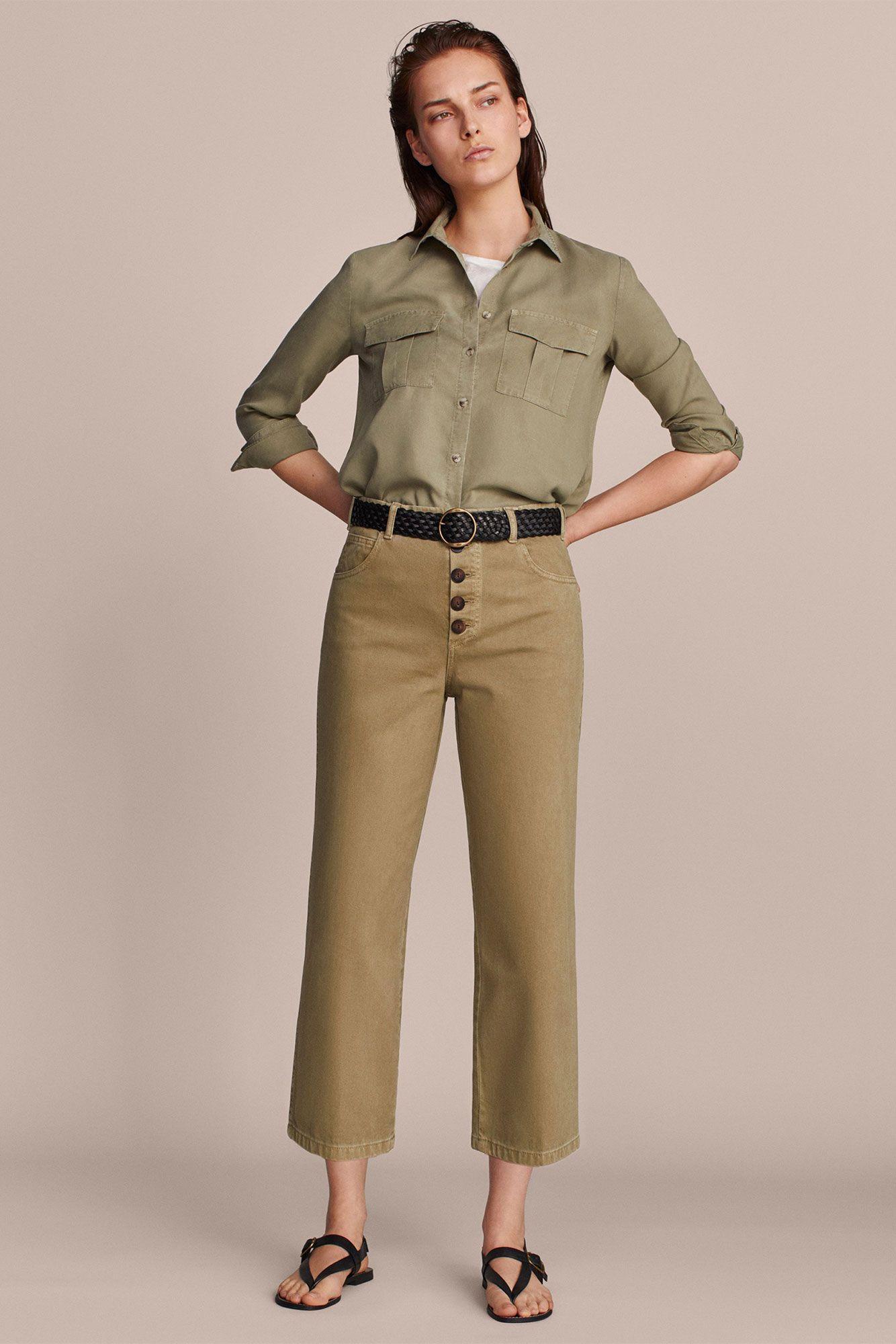 Este pantalón culotte de Massimo Dutti es la tendencia del otoño