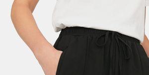 pantalon negro largo rebajas stradivarius