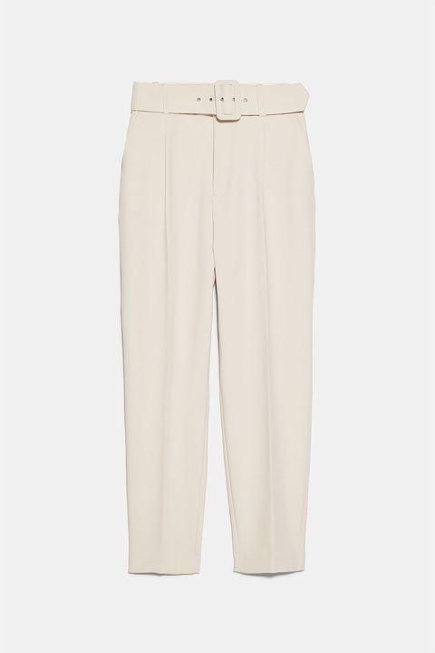 El Pantalon De Vestir De Zara Que Mejor Queda Por Fin En Blanco