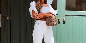 shoppingpantalones blancos de todo tipo palazzo mom fit short crop paper bag zara bershka