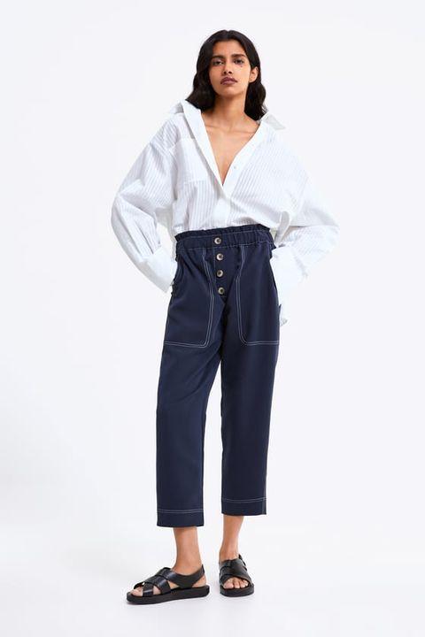 f87f28796 Estos 8 pantalones (palazzo, rectos y crop) de Zara te quedarán ...