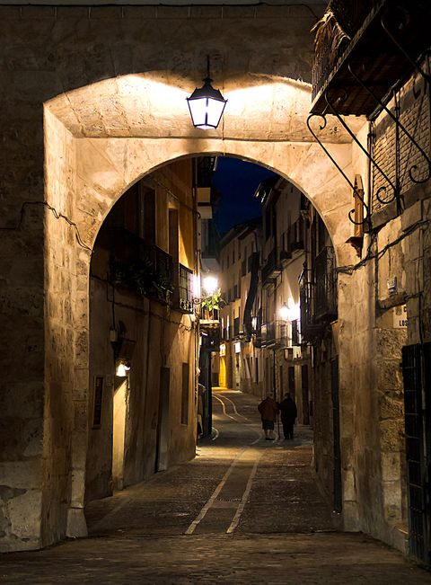 Arch, Lighting, Building, Street, Architecture, Infrastructure, Night, Alley, Road, Crypt,