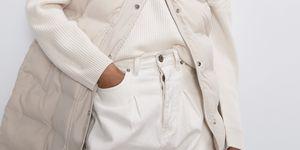 plumifero chaleco blanco barato zara clasicas