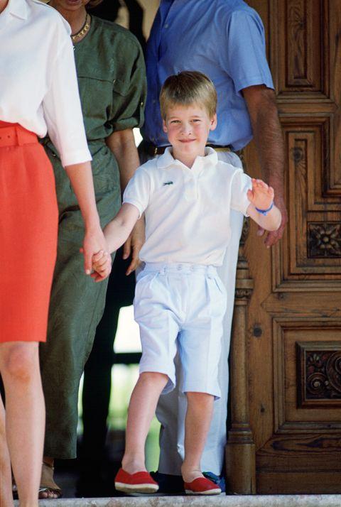 príncipe William fotos de pequeño
