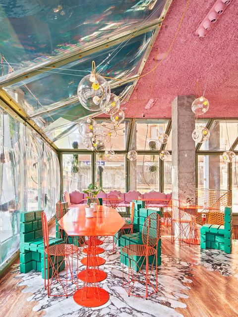 Room, Turquoise, Interior design, Building, House, Architecture, Furniture, Home, Table, Illustration,