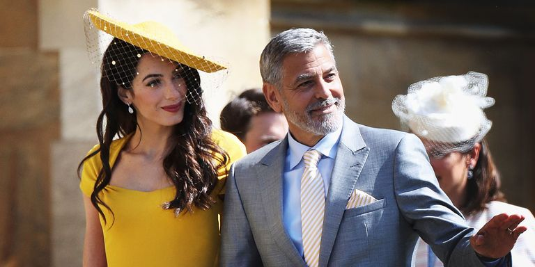 George and Amal Clooney at the Royal Wedding Elle-royal-wedding-amal-george-clooney-gettyimages-960034198-1526723541