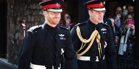 Prince William Wedding.Prince Harry And Prince William Roll Up On The Royal Wedding