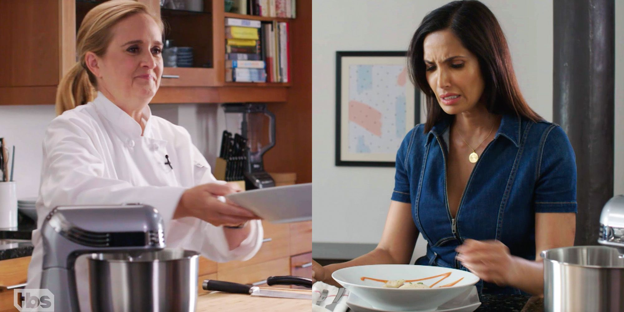 elle.com - Madison Feller - Exclusive: Samantha Bee and Padma Lakshmi Discuss Immigrants in the Food Industry in 'Top Chef' Parody