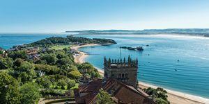 Bahía de Santander con la Península de la Magdalena