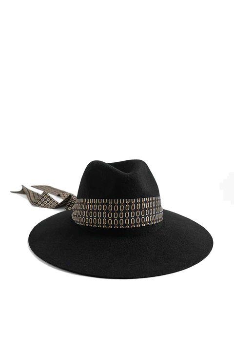 sombrero fieltro con cinta zara