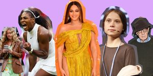 Serena Williams, Beyonce, Greta Thunberg, Woody Allen