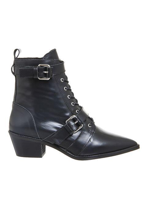 Footwear, Black, Shoe, Boot, Buckle, Leather, Fashion accessory,